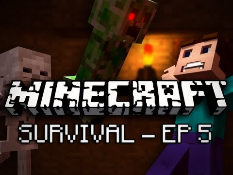 Minecraft: Survival Let's Play Ep. 5 - Diamonds! Music Videos