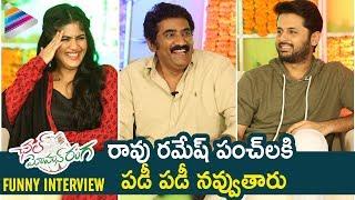 Chal Mohan Ranga Team Best Funny Interview | Nithiin | Megha Akash |Telugu FilmNagar