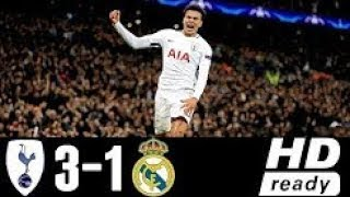 Tottenham Hotspur vs Real Madrid 3-1 Extended Highlights Goals - 01 NOV 2017