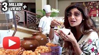 Shilpa Shetty PANI PURI TREAT Video For Sunday Binge