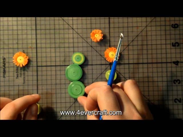 Мастер-класс: Кактус в технике квиллинг