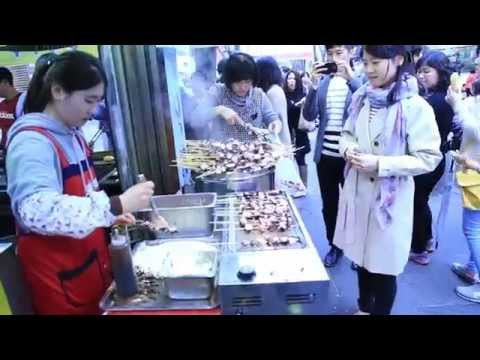 South Korea Insadong Street Food Scene video