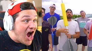 Giant Darts Battle | Dude Perfect - Reaction