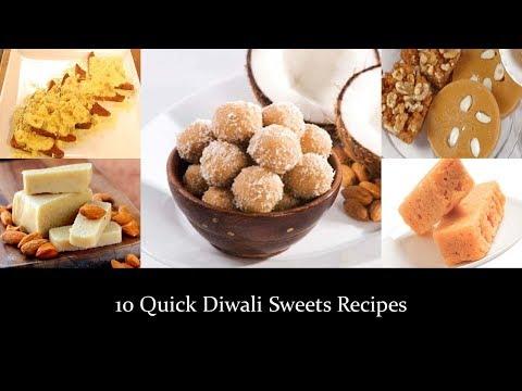 10 Quick Diwali Sweets Recipes