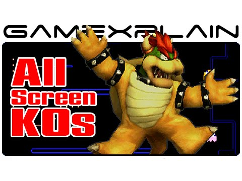 Smash Bros 3DS: All Screen KOs (All 51 Characters!)
