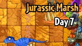 Plants vs Zombies 2 - Jurassic Marsh Day 7: Don