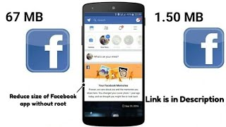 Install Facebook for only 2 MB || No Facebook Lite || Without Root