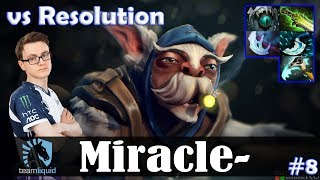 Miracle - Meepo MID | vs Resolution (Naga Siren) 7.20 Update Patch | Dota 2 Pro MMR Gameplay #8