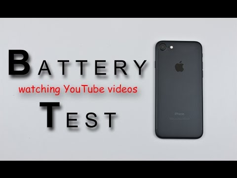 iPhone 7 - Battery Life Test Review!  (watching youtube videos)