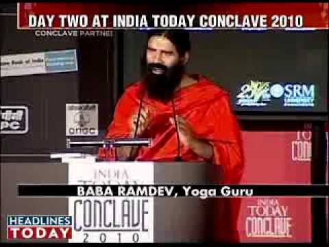 Baba Ramdev speaks on sex and spirituality at India Conclave, part1