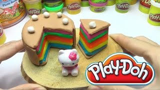 Play Doh Birthday Cake for Hello Kitty DIY