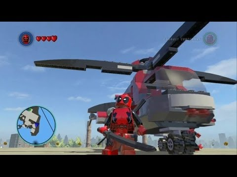 LEGO Marvel Super Heroes - Deadpool and His Vehicles + Free Roam Gameplay