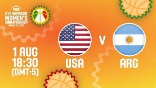 США до 18 (Ж) : Аргентина до 18 (Ж)