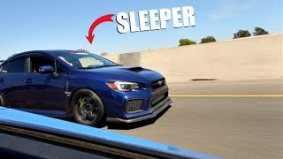 SLEEPER 800HP Subaru STI Vs. 800HP EVO X! ( Comparison )
