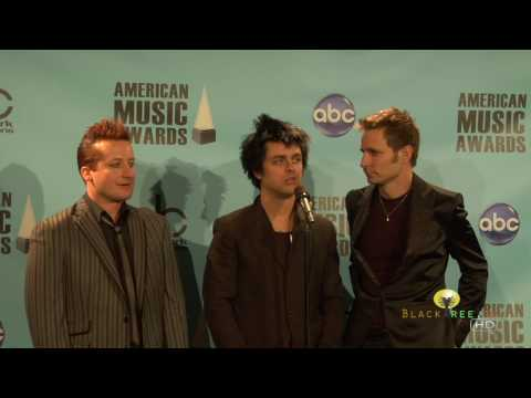 Green Day Backstage at American Music Awards, Best Alternative/Rock Group or Duo... Music Videos