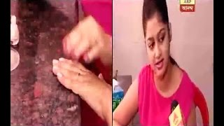 Watch in Video: The main actress of Esho Maa Lokkhi serial doing some nail painting