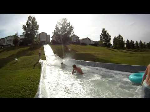 GoPro HD Hero 2 - MASSIVE SLIP N' SLIDE [Plus Homemade Pool] 2011