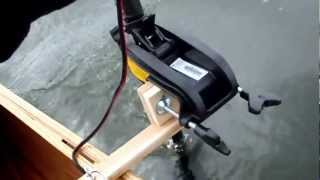 Minnkota Endura C2 trolling motor pushing a 17.5 BWCA Cruiser Canoe