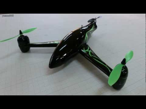 Y-3 Fiberglass Tri-Copter Frame & HK KK2.0 V1.5 Vol.47 Test Flight