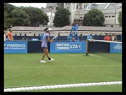 Vania King and Zheng Jie in doubles in Eastbourne 2009 match 2 Video