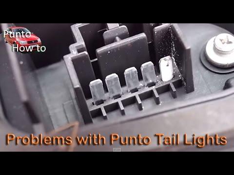 Fiat Punto Tail Light Faults. Flashing