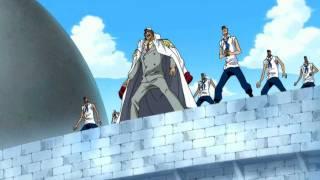 One Piece - Short Clip: Rayleigh's Haki Bullet vs Marine's Cannon!