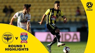 Hyundai A-League 2018/19 Round 1: Wellington Phoenix 2 - 1 Newcastle Jets Highlights