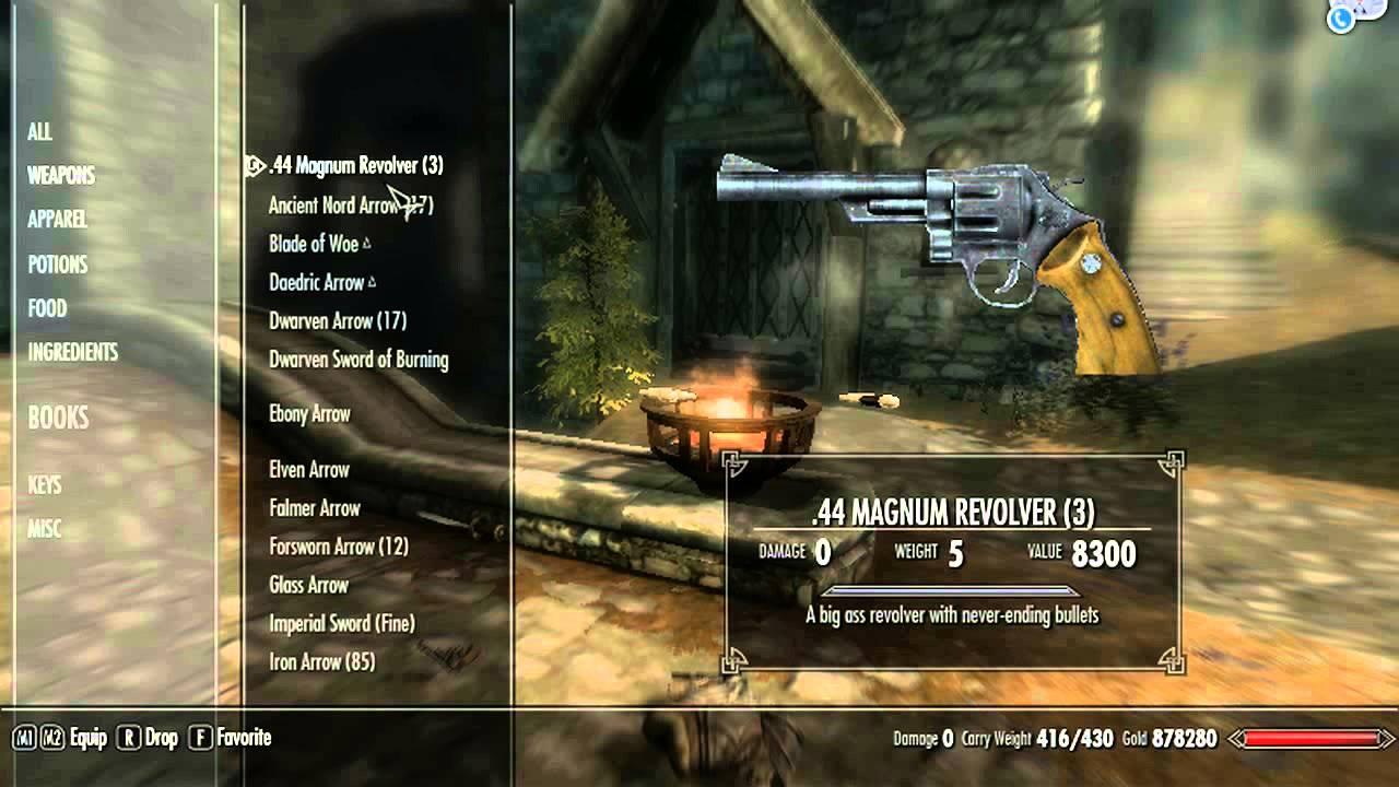 Пистолет для скайрима