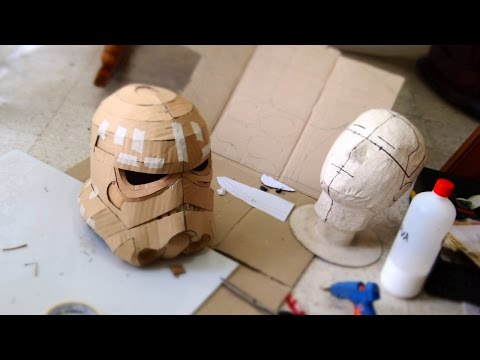 #75: Stormtrooper Helmet DIY Part 1 - Cardboard. Face. Jaw. Chin (free template)