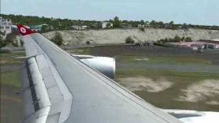 Turkish Airlines Wilco Airbus Series 2 A 340-300 St.Marteen Princess Juliana İnt.Airport Landing