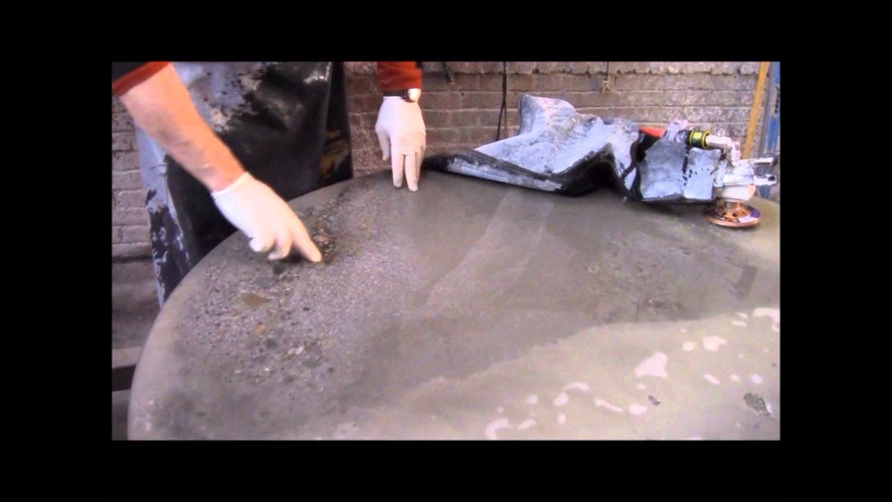 Polishing concrete countertops youtube for Cleaning polished concrete