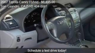 2007 Toyota Camry Hybrid Base 4dr Sedan for sale in San Lean