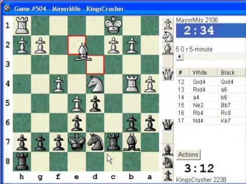 Chess World.net presents Blitz #420 vs MayorMilo (2106) French: Steinitz, Boleslavsky variation