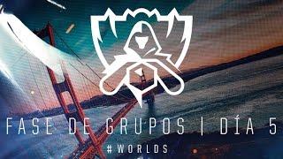 Campeonato Mundial 2016: Fase de Grupos, Día 5