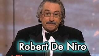 Robert De Niro Accepts the AFI Life Achievement Award in 2003