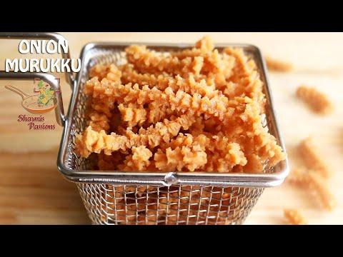 Onion murukku recipe, Vengaya murukku recipe