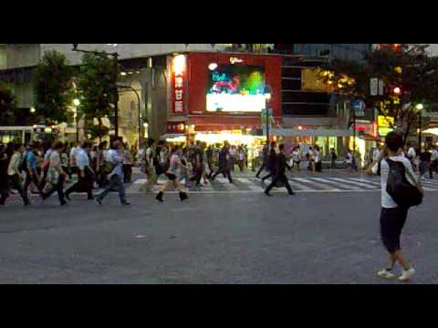 Carrefour de Shibuya - Shibuya crossroad - Tokyo (2009/07/09)