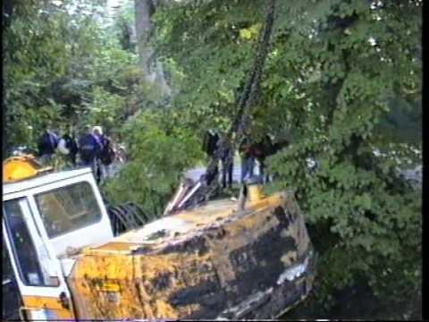 Baggerunfall bei Burg Berum 1991 - excavator accident