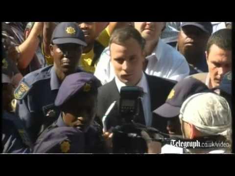 Oscar Pistorius arrives to hear his sentence