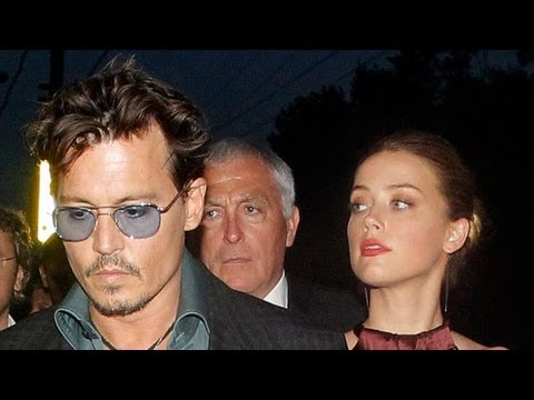 Johnny Depp Takes Girlfriend Amber Heard on The Lone Ranger Press Tour | POPSUGAR News