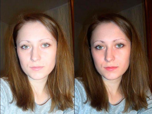 Как сделать цвет лица на фото в 591