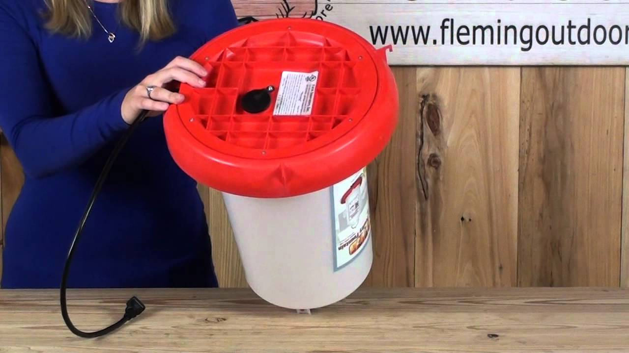 3 Gallon Heated Poultry Waterer Youtube