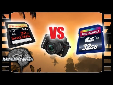 Sandisk Extreme Pro vs Transcend Class 10 - SD Cards Compared- MindPower009