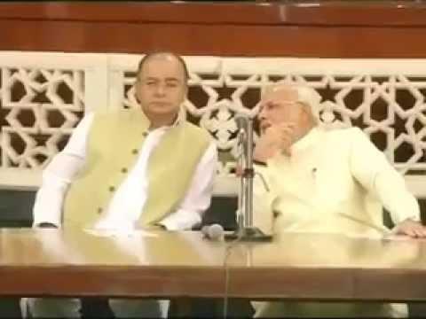 Narendra Modi with entire BJP discussing about Varanasi Ganga water raise