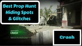 Call of Duty MWR Best Prop Hunt Hiding Spots & Glitches! (Crash)