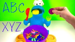 Best Learning Colors and Letters Video for Children - Play Doh Eating Cookie Monster & Paw Patrol