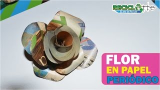 DIY♻ FLOR EN PAPEL DE REVISTA /  FLOWER IN PAPER MAGAZINE