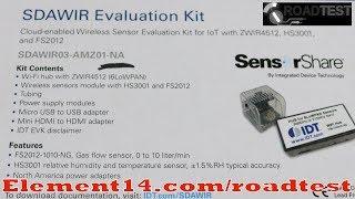 IDT Wireless Flow Rate, Humidity&Temp Sensing Kit testing the sensors