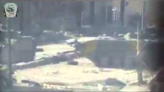amazing video syrian rebels destroyed tank