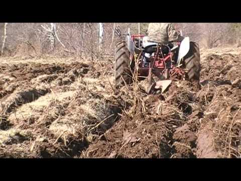 Plowing the Deer Food Plot with the 53 Ford Jubilee Tractor
